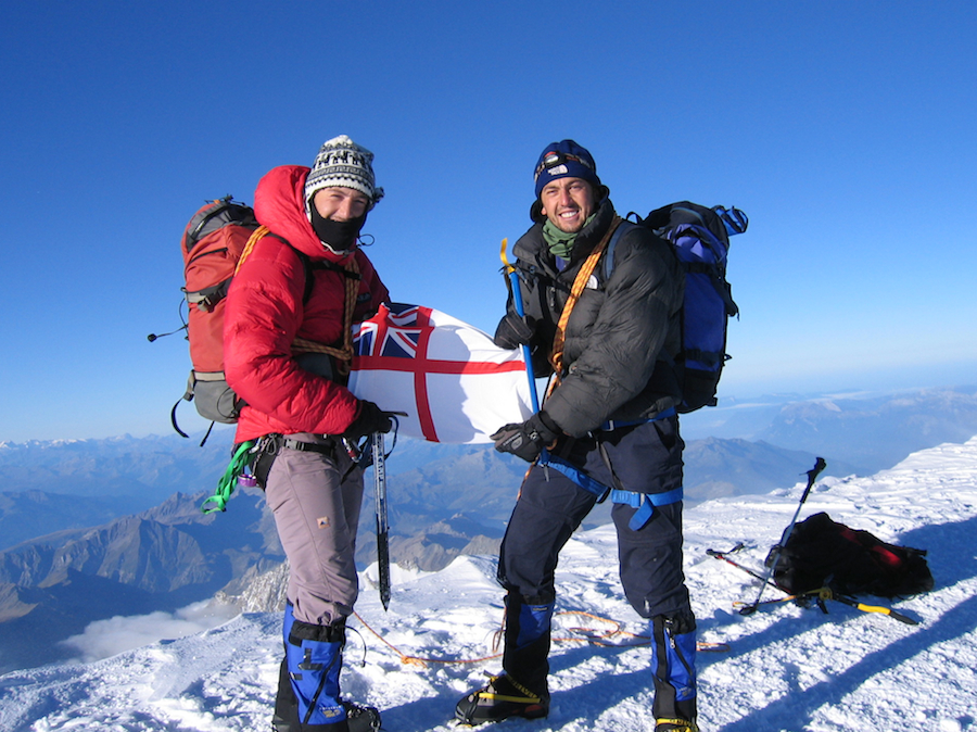 Me and Will on the summit of Mont Blanc