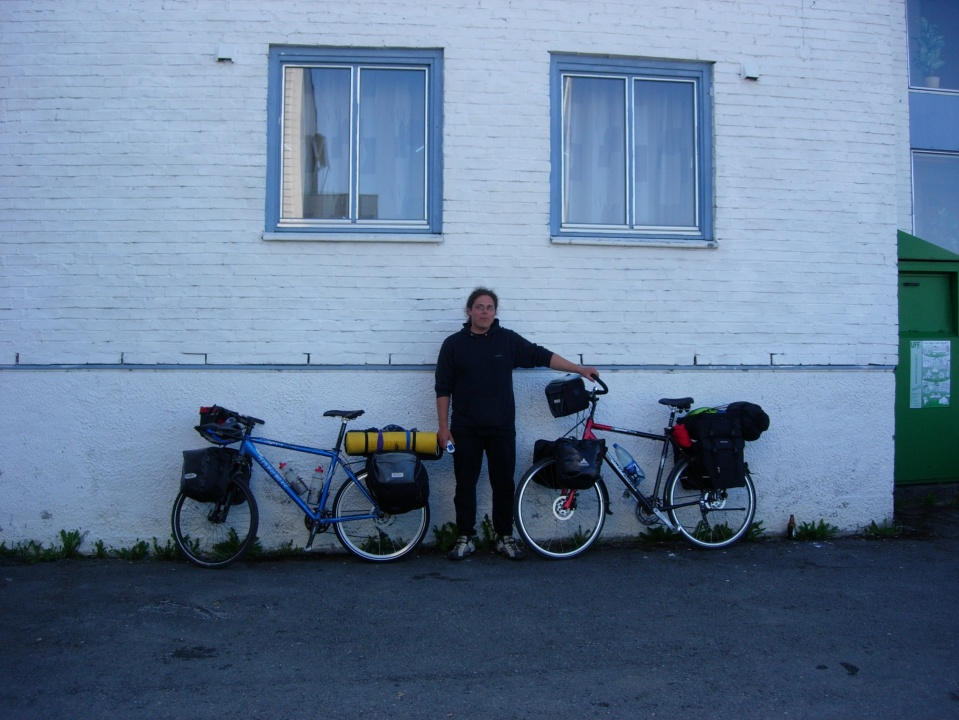 Markus with the bikes