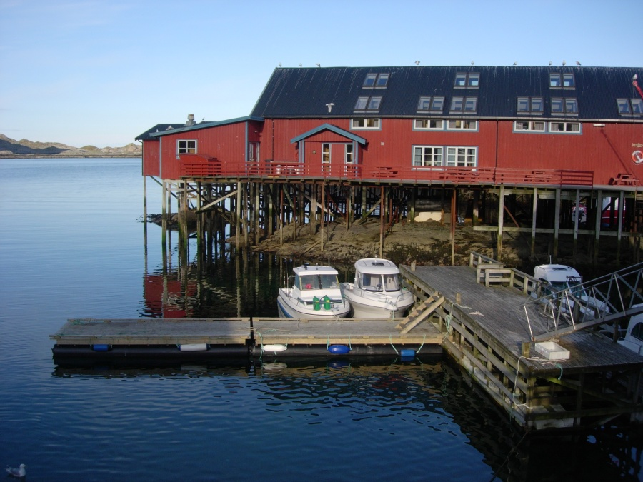 Fishing harbour in the Lofoten Islands