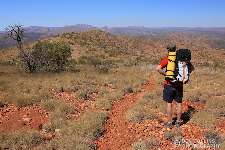 Trekking through the West MacDonnell Range, Central Australia