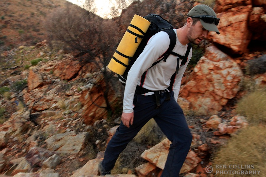 Trekking along the Larapinta Trail, Australia