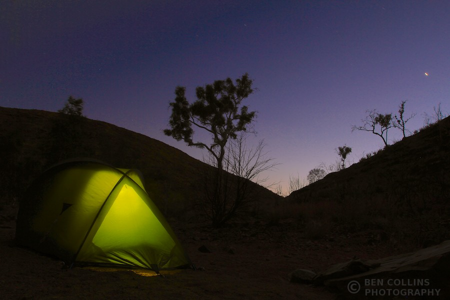 Fringe Lily Creek camp, Larapinta Trail, Australia