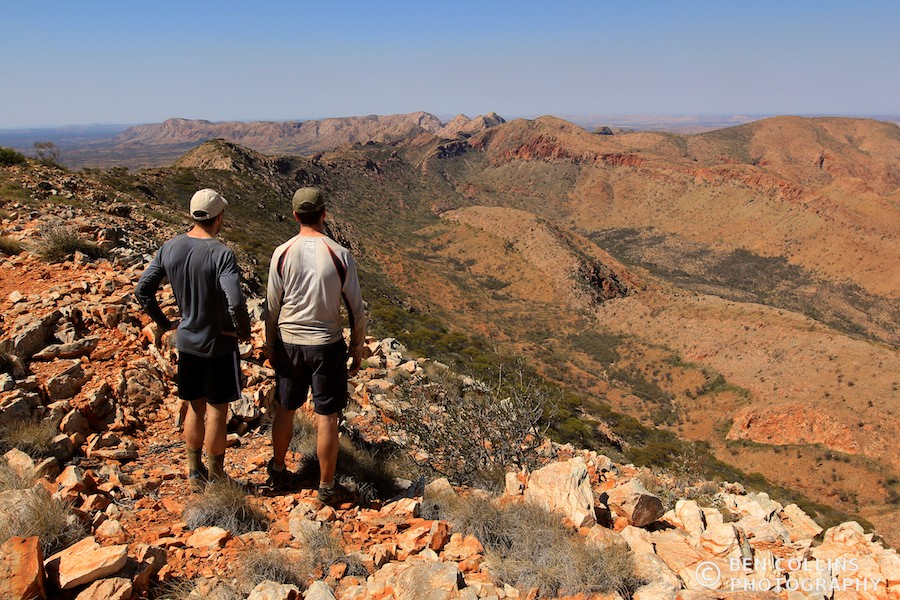 Summit of Brinkley Bluff, looking east to the Chewings Range, Australia