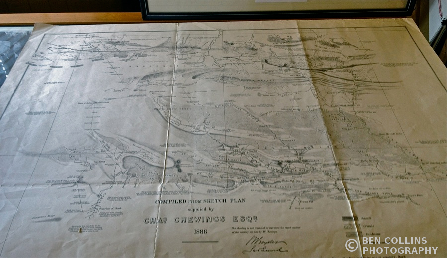 Old facsimile map, Royal Geographical Society of South Australia