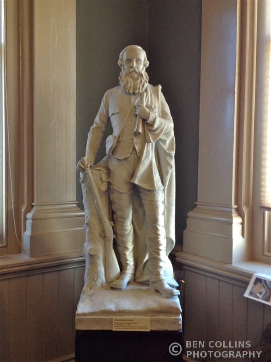 Statue of John Stuart, Explorer, in the Royal Geographical Society of South Australia