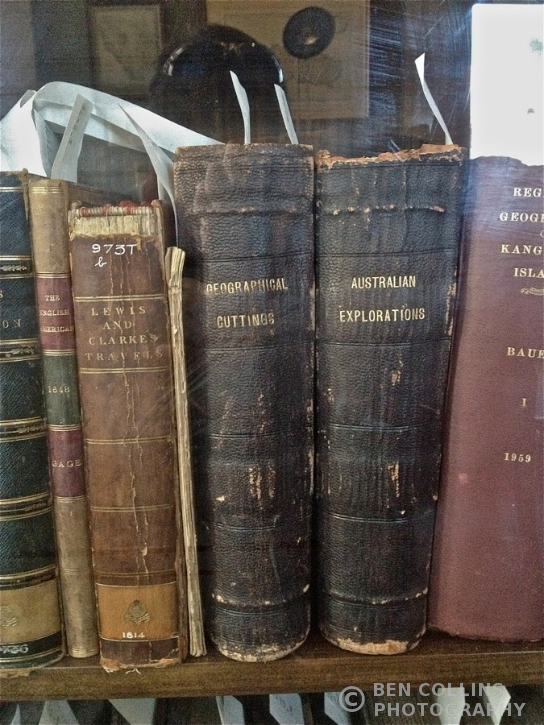 Old exploration tomes, Royal Geographical Society of South Australia