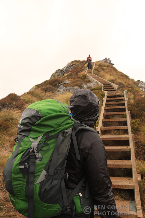 Descending off the ridge