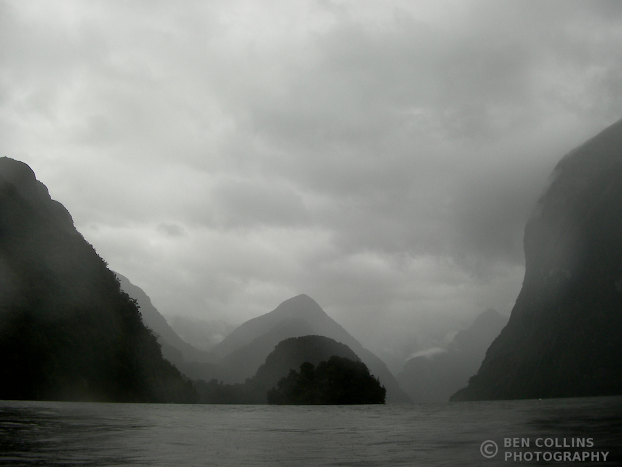 The rain arrived on day 2, Doubtful Sound