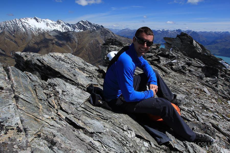 Pete on the summit of Black Peak
