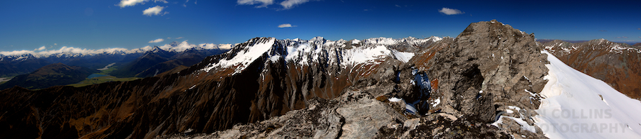 Panorama from the summit of Black Peak