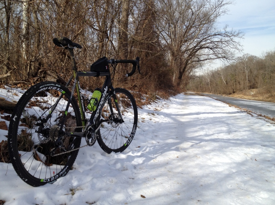Cross bike in winter