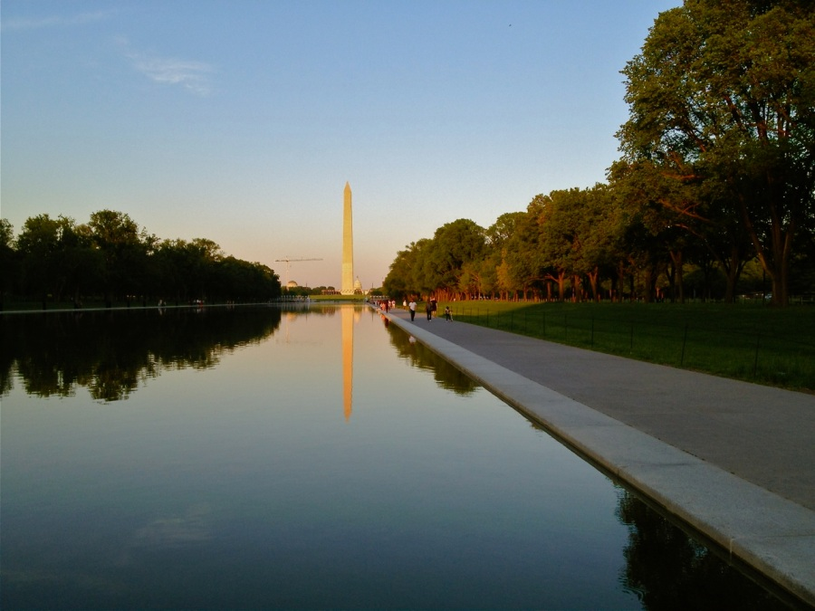Reflecting Pool in the evening light