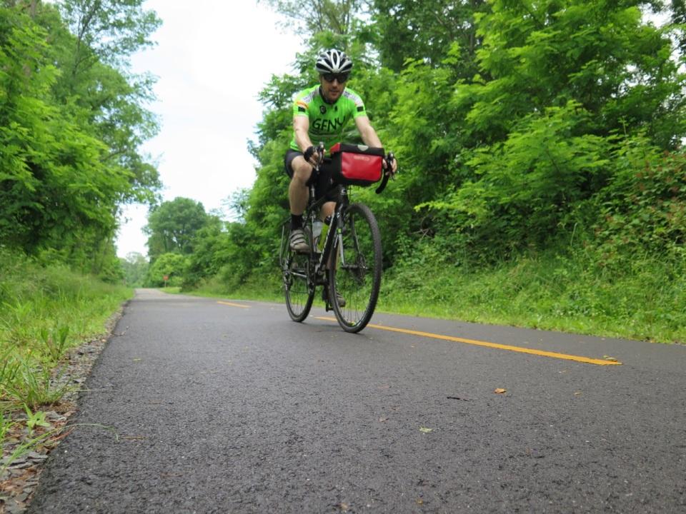 On the W&OD trail