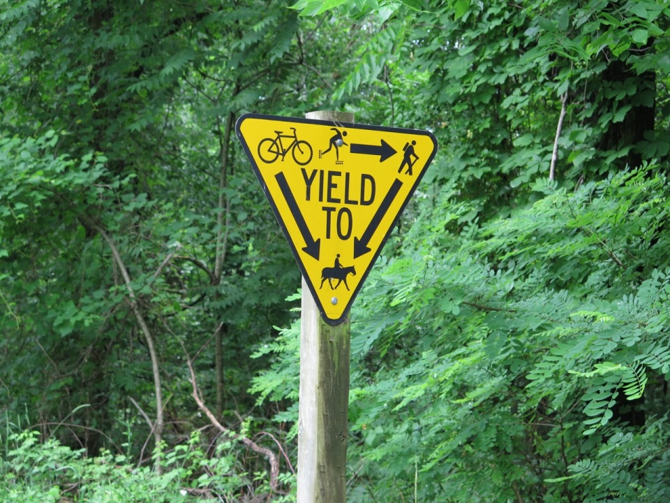 W&OD trail sign