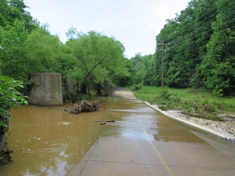 Flooding on the W&OD trail