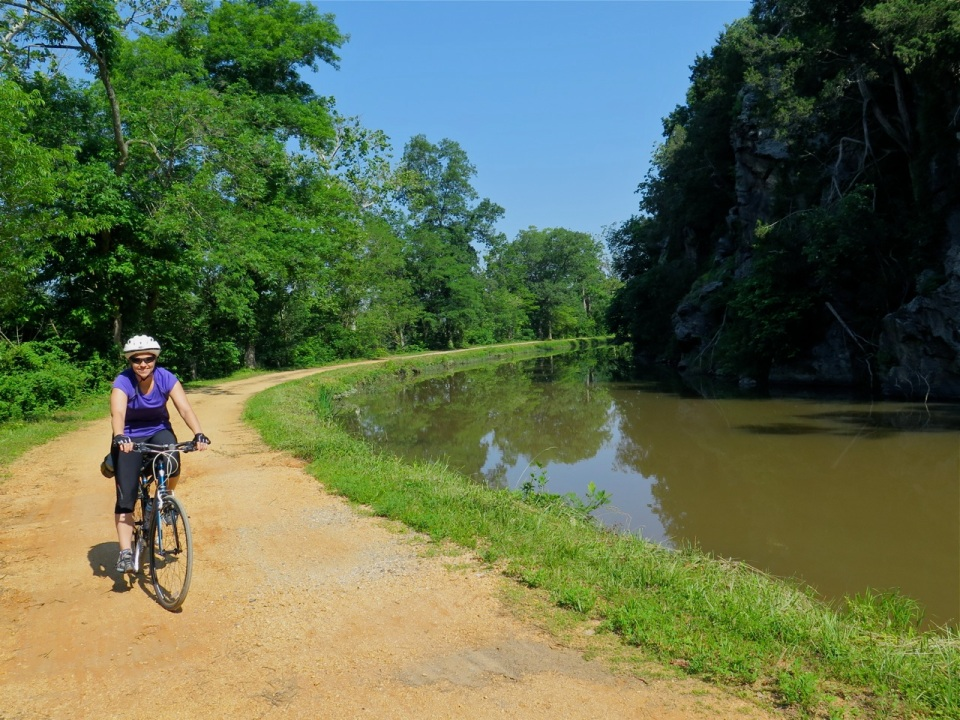 Idyllic conditions on the trail