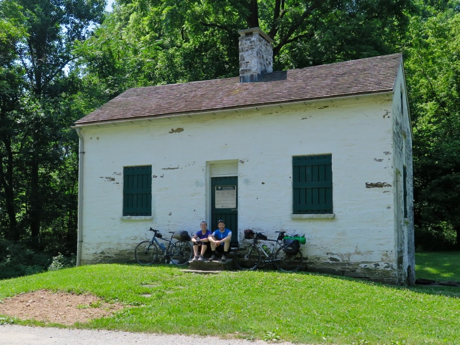 Resting outside one of the historic lock houses