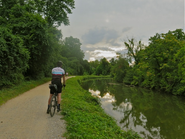 Pete on the C&O canal