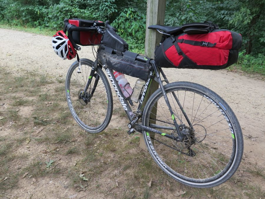 Cannondale setup in bikepacking mode