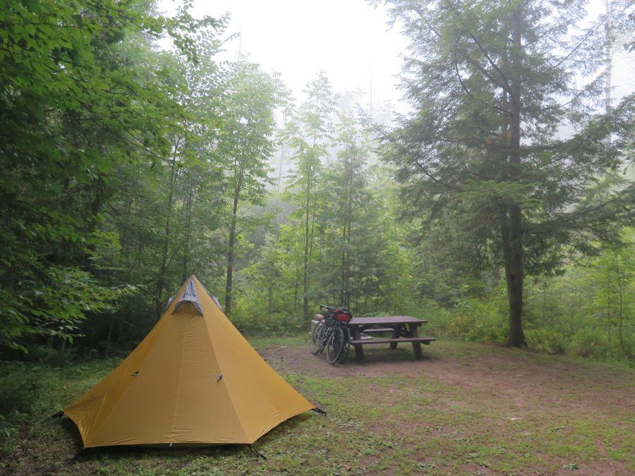 Camp at Lake Paradox