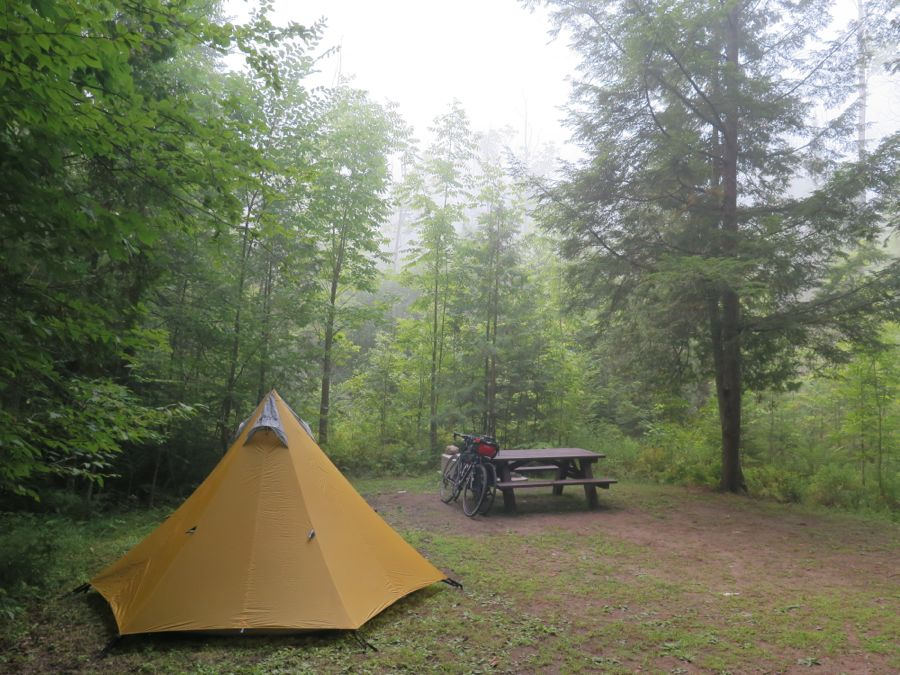 Camp at Lake Paradox