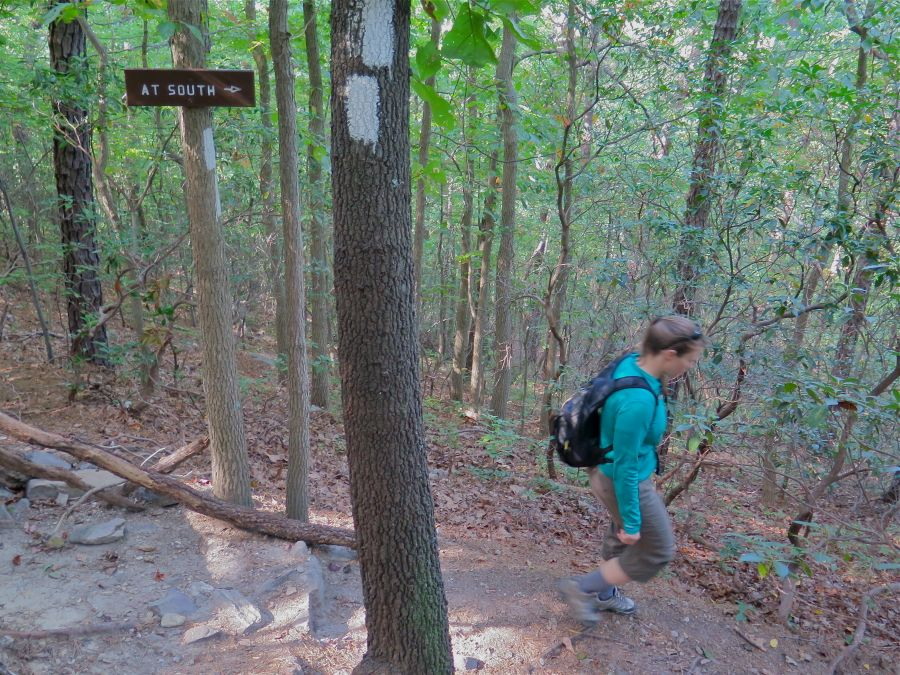 Hiking south along the AT