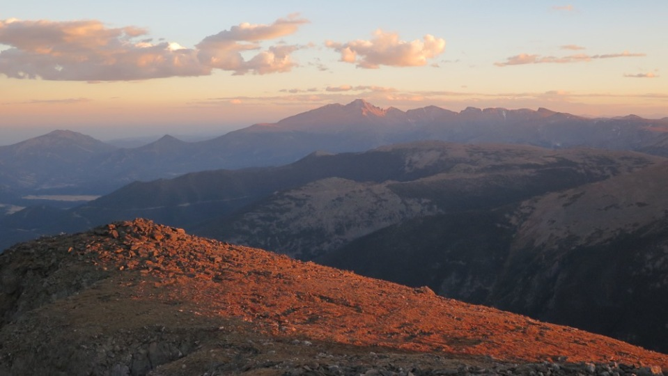 Sunset from Mount Chiquita