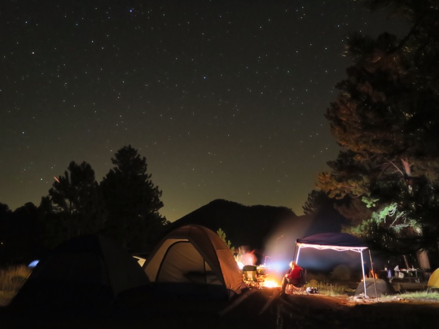 At camp that night