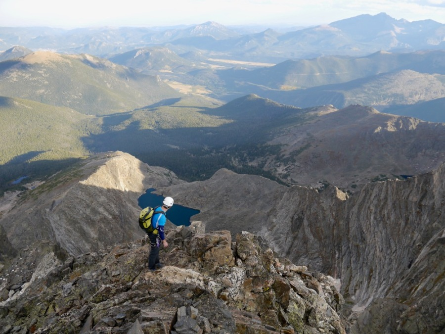Me on the start of the summit ridge