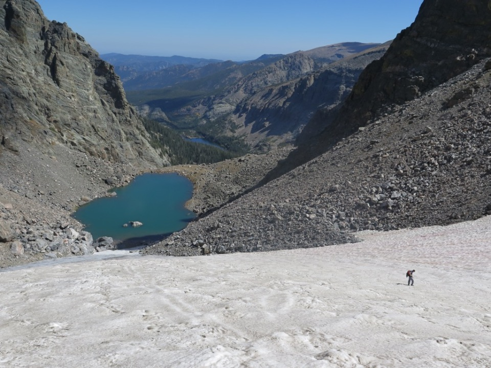 Descending Andrews glacier off Otis Peak