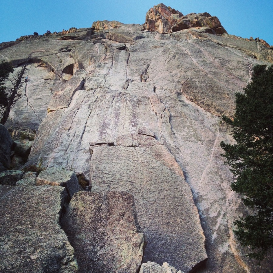 Pear Buttress route, Book Crag, Lumpy Ridge