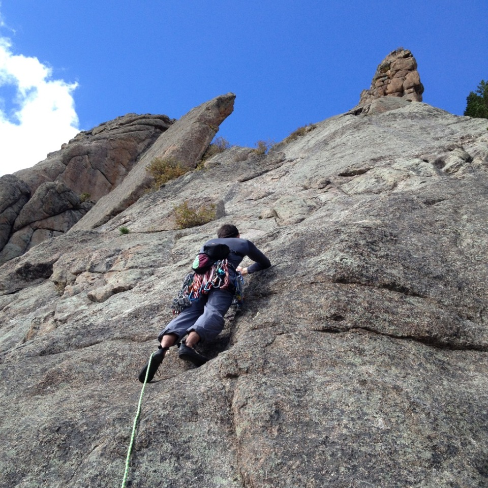 Climbing Batman and Robin, Lumpy Ridge, Estes Park