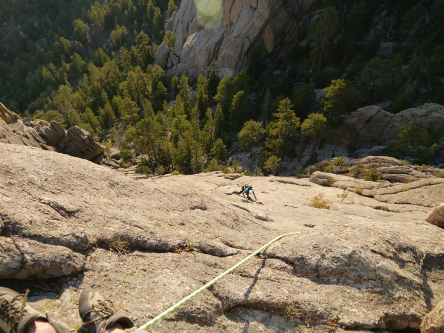 Climbing on Lumpy Ridge near Estes Park