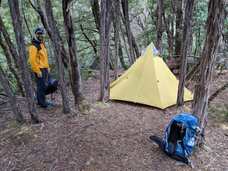 Campsite at Lodden River